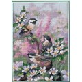 Dimensions 06884                 Chickadees in Spring (Синички весной)