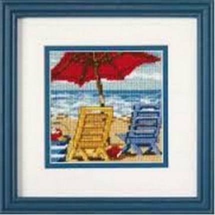 Набор для вышивания 07223 Beach Chair Duo (Пляжный дуэт)