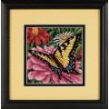 Dimensions 07232 Butterfly on Zinnia (Бабочка на циннии)
