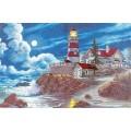 Dimensions 13948                 Moonlit Lighthouse (Маяк в лунном свете)
