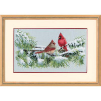 Dimensions 35178 Winter Cardinals (Зимние кардиналы)