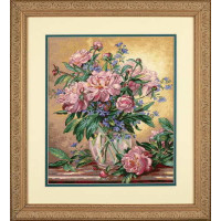 Dimensions 35211 Peonies and Canterbury Bells (Пионы и колокольчики)
