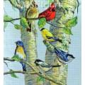 Dimensions 35252 Birch Tree Birds (Птички на березе)