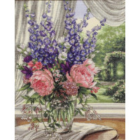 Dimensions 35257 Peonies and Delphiniums (Пионы и дельфиниумы)