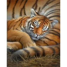 Набор для вышивания 65105 Cozy Cub (Спящий тигрёнок)