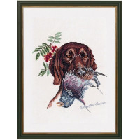 Eva Rosenstand 12-950 Охотничья собака с голубем (Hunting dog with dove)