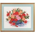 Eva Rosenstand 14-260 Розы в голубой вазе (Roses in blue bowl),