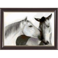 Гобелен Классик 1119 Чёрно-белые лошади
