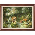 Гобелен Классик 324 Тигры в лесу