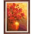 Гобелен Классик 902 Красные цветы