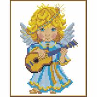 Искусница 208 Ангелочек с гитарой