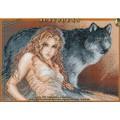 Искусница 456 Девушка с волком