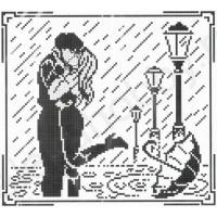 Искусница 484 Графика (Поцелуй под дождем)