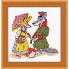 Набор для вышивания 8-109 Волк и лиса