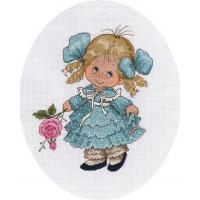 Кларт 8-173 Девочка с розой