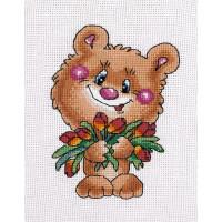 Кларт 8-182 Медвежонок с тюльпанами