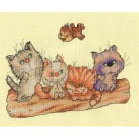 Кларт 8-193 Котята на бревне