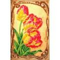 Кроше (Радуга бисера) В-415 Бархатные тюльпаны