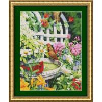 Kustom Krafts 97137 Кардиналы у пруда (Cardinals in Birdbath)