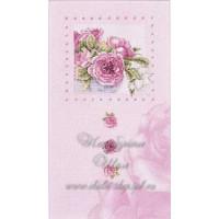 Lanarte 34967 Pink roses in a frame (Розовая роза в рамке)