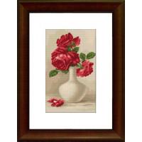 Luca-S G506 Красные розы в вазе