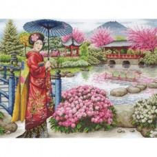 Набор для вышивания 01024 The Japanese Garden (Японский садик)