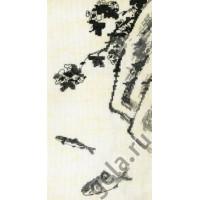 Марья Искусница 03.018.04 Цветок, скала и две рыбки