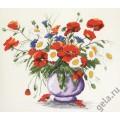 Марья Искусница 04.005.01                 Маки в голубой вазе