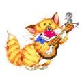 Матренин Посад 0125/Б Без кота - жизнь не та! Музыкант