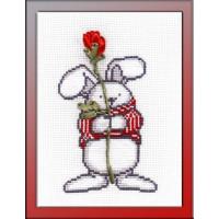 Овен 481 Зайка с розой