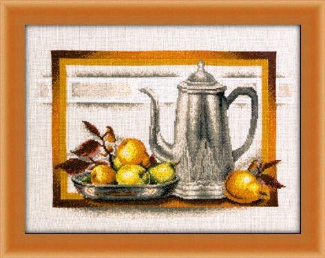 Схема вышивки натюрморт с грушами