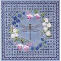 Panna Ц-0737 Цветочный узор.Стрекоза