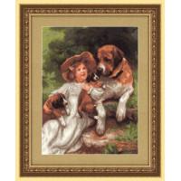 Panna ВХ-1328 Девочка с собаками