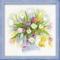 Риолис 100/008                   Акварельные тюльпаны