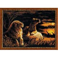 Риолис 1142 Львы в саванне