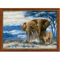 Риолис 1144 Слоны в саванне