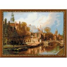Набор для вышивания 1189 Амстердам. Старая церковь и Церковь св. Николая Чудотворца