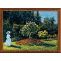 Риолис 1225 Дама в саду. По мотивам картины К.Моне