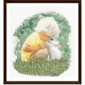 Thea Gouverneur 1046 Boy and Rabbit (Мальчик с кроликом)