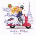Vervaco 2002-70356 Just Married Vespa Style (Свадьба в Париже)