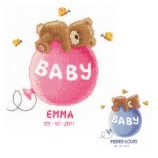 Набор для вышивания PN-0144083 Baby Dreams (Мишка на шарике)