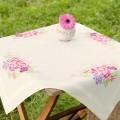 Vervaco PN-0144640 Скатерть Цветочный восторг (Pastel Posy)