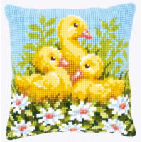 Vervaco PN-0146248 Подушка Ducklings with Daisies (Утята в ромашках)