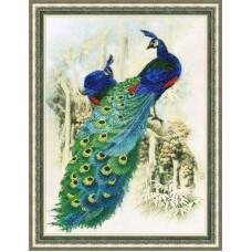 Набор для вышивания РТ-016 Изумрудные павлины
