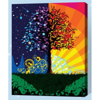 Allegro 4339 Картина по номерам 40*50 в раме День и ночь Е120 (24 цвета, 4 звезды)