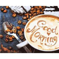 Allegro 3876 Картина по номерам 40*50 в раме Доброе утро