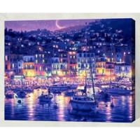 Allegro 4330 Картина по номерам 40*50 в раме Город у моря Е064 (24 цвета, 4 звезды)