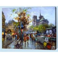 Allegro 4344 Картина по номерам 40*50 в раме Городская суета Е187 (24 цвета, 4 звезды)
