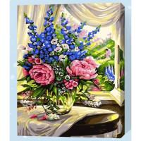 Allegro 4306 Картина по номерам 40*50 в раме Июньский букет Е012 (24 цветов, 3 звезды)