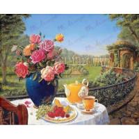 Allegro 3692 Картина по номерам 40*50 в раме Летнее утро 0612